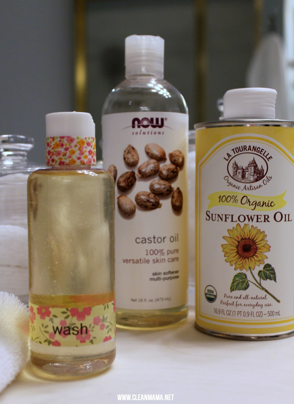 Diy oil cleansing method skin toner clean mama 2 ingredients for oil cleansing face wash via clean mama solutioingenieria Gallery