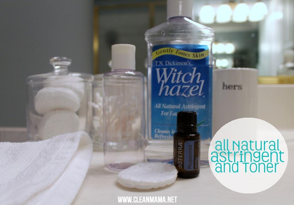 All Natural Astringent + Toner via Clean Mama