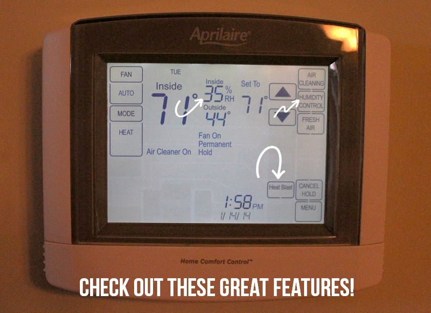 Aprilaire Thermostat via Clean Mama