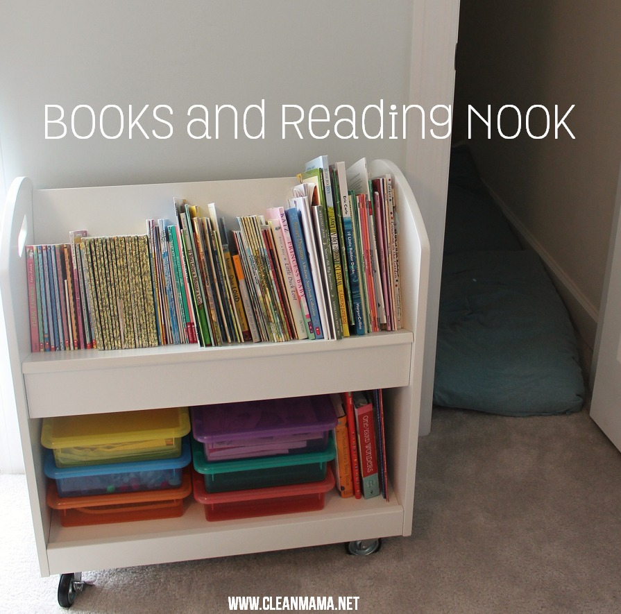 Books and Reading Nook via Clean Mama