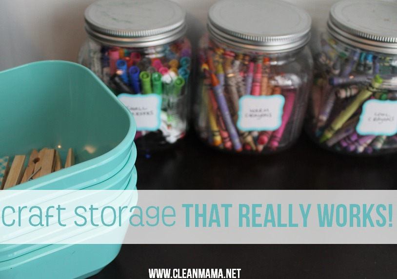 Craft Storage that Really Works via Clean Mama