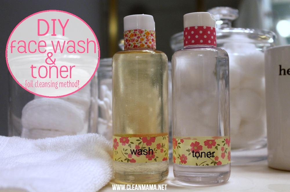 DIY Face Wash + Toner via Clean Mama