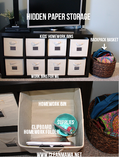Hidden Paper Storage via Clean Mama