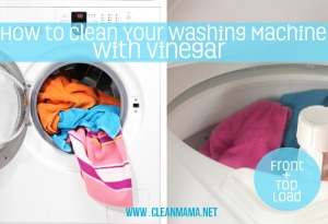 how to clean your washing machine with vinegar
