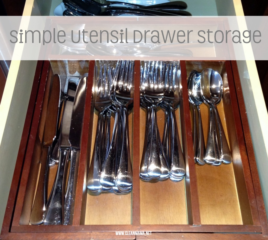 Simple Utensil Drawer Storage via Clean Mama