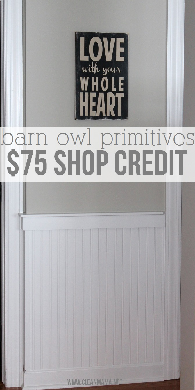 Barn Owl Primitives giveaway on Clean Mama