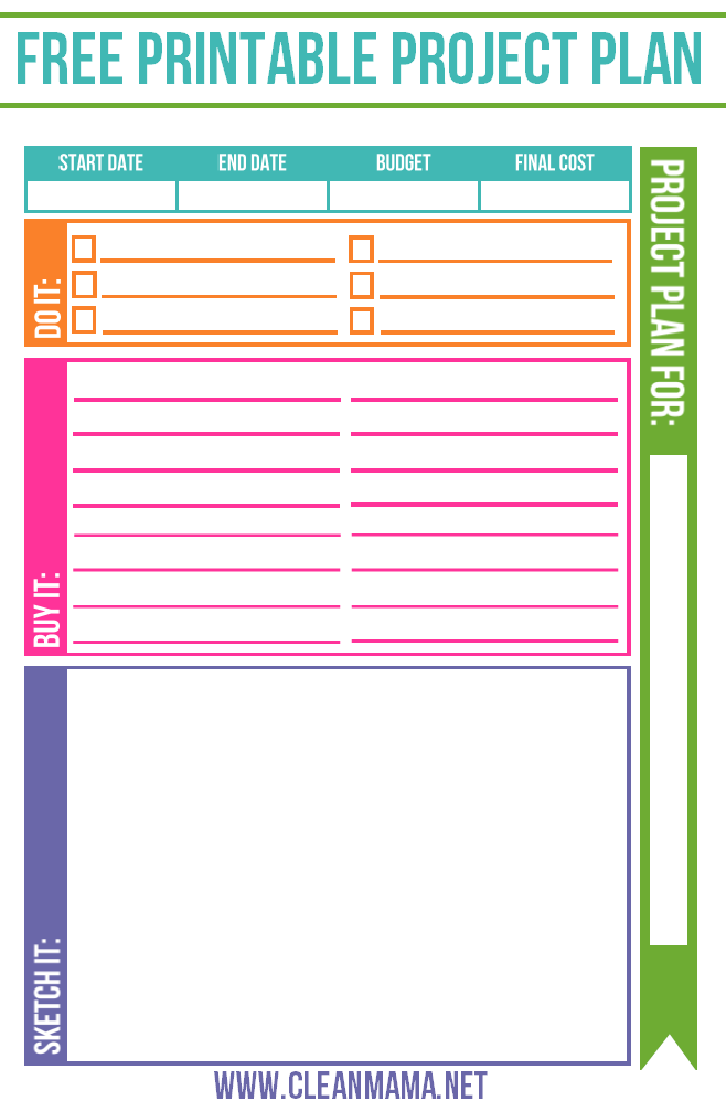 photograph about Free Printable Project Planner named Cost-free Venture Planner Refreshing Mama