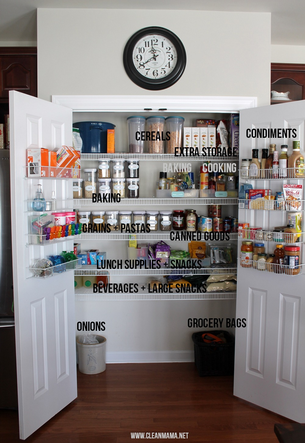 Organize Your Pantry into Zones via Clean Mama
