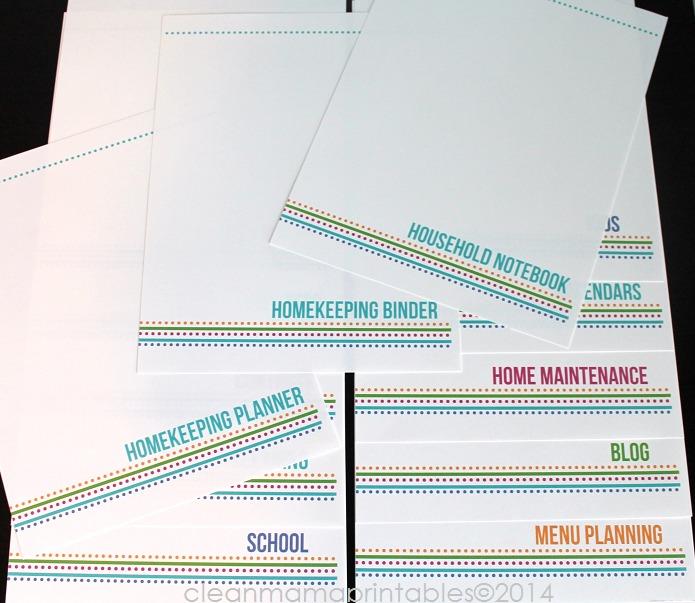 The Simplified Life Binder Kit 3 via Clean Mama Printables
