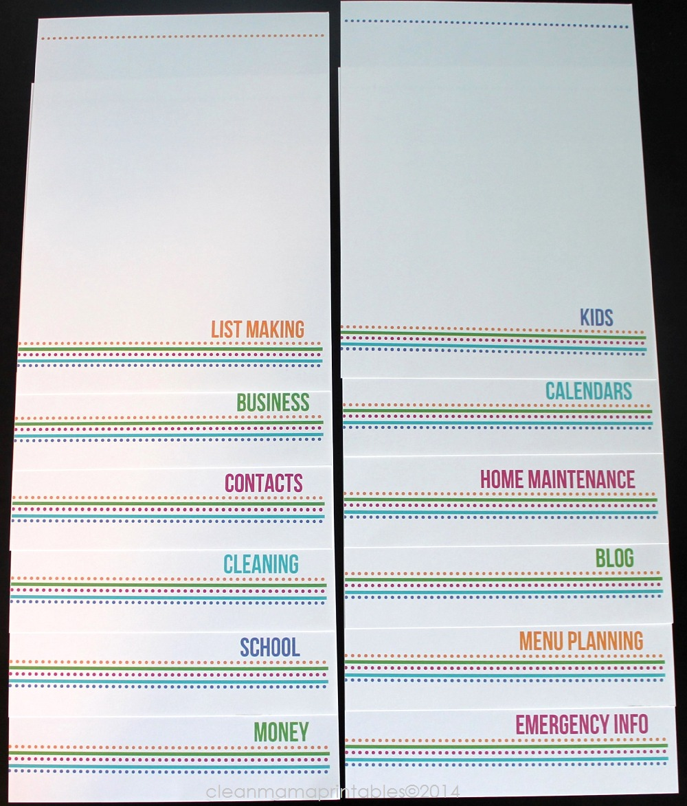 The Simplified Life Binder Kit4 - Clean Mama Printables