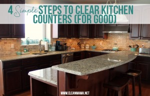 4 Simple Steps to Clear Kitchen Counters (For Good) via Clean Mama
