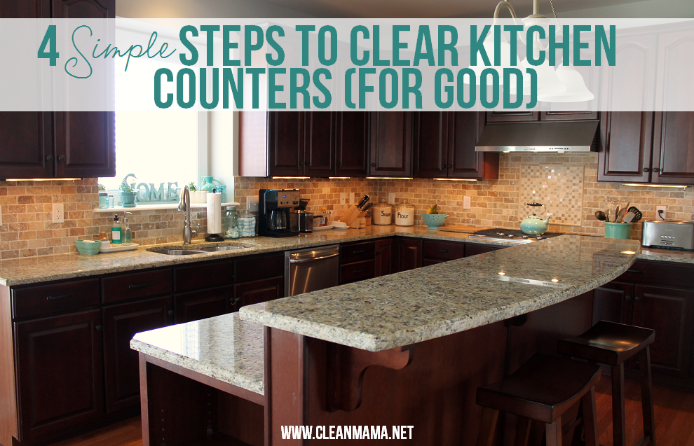 Clear Kitchen Counter 990 x 637
