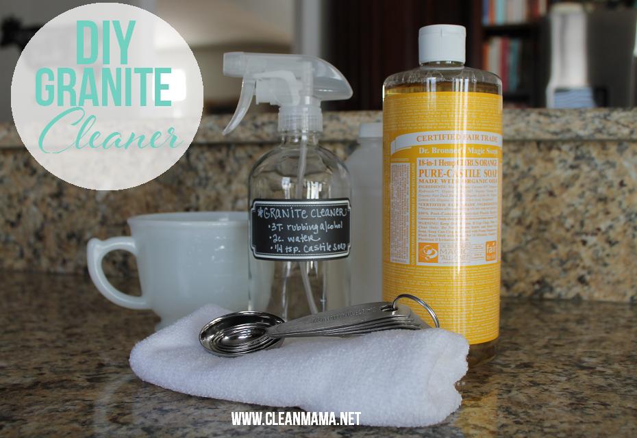 DIY Granite Clean Recipe via Clean Mama