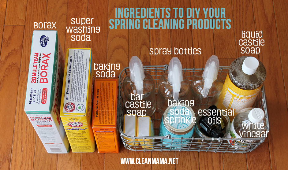 Spring cleaning diy cleaning products clean mama for Sustainable home products