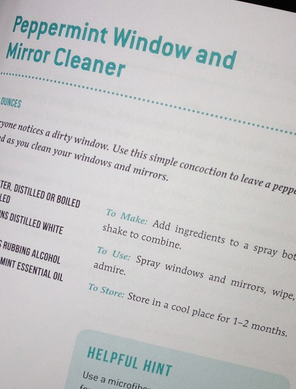 Sneak Peek Peppermint Window and Mirror Cleaner via Clean Mama