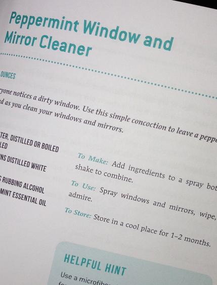 Sneak Peek Peppermint Window and Mirror Cleaner via Clean Mama