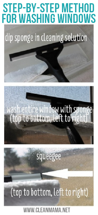Step-By-Step Method for Washing Windows via Clean Mama