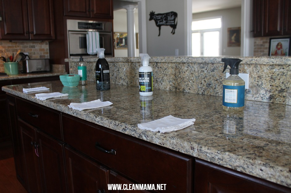 Testing Granite Cleaners via Clean Mama