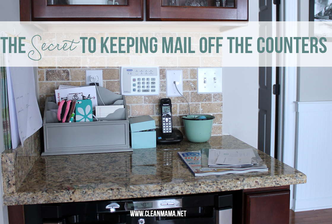 The Secret to Keeping Mail Off the Counters via Clean Mama