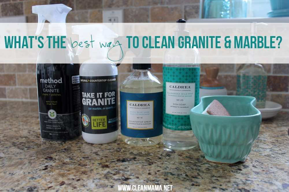 Whatu0027s The Best Way To Clean Granite And Marble Via Clean Mama