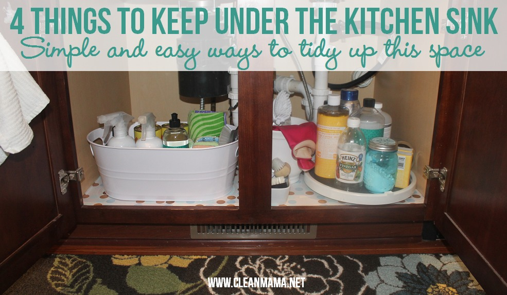 4 Things to Keep Under the Kitchen Sink via Clean Mama