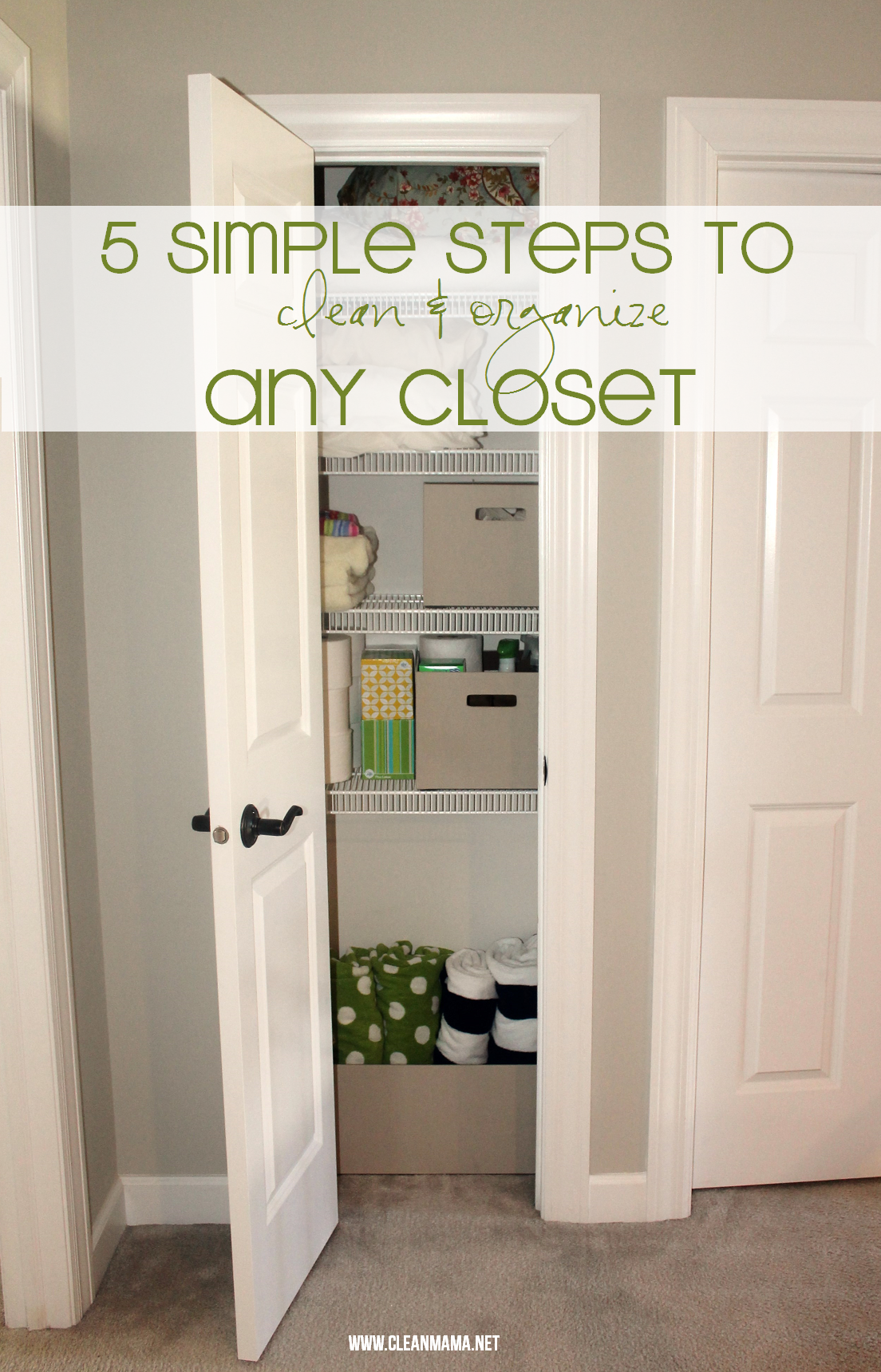 5 Simple Steps to Clean + Organize Any Closet via Clean Mama