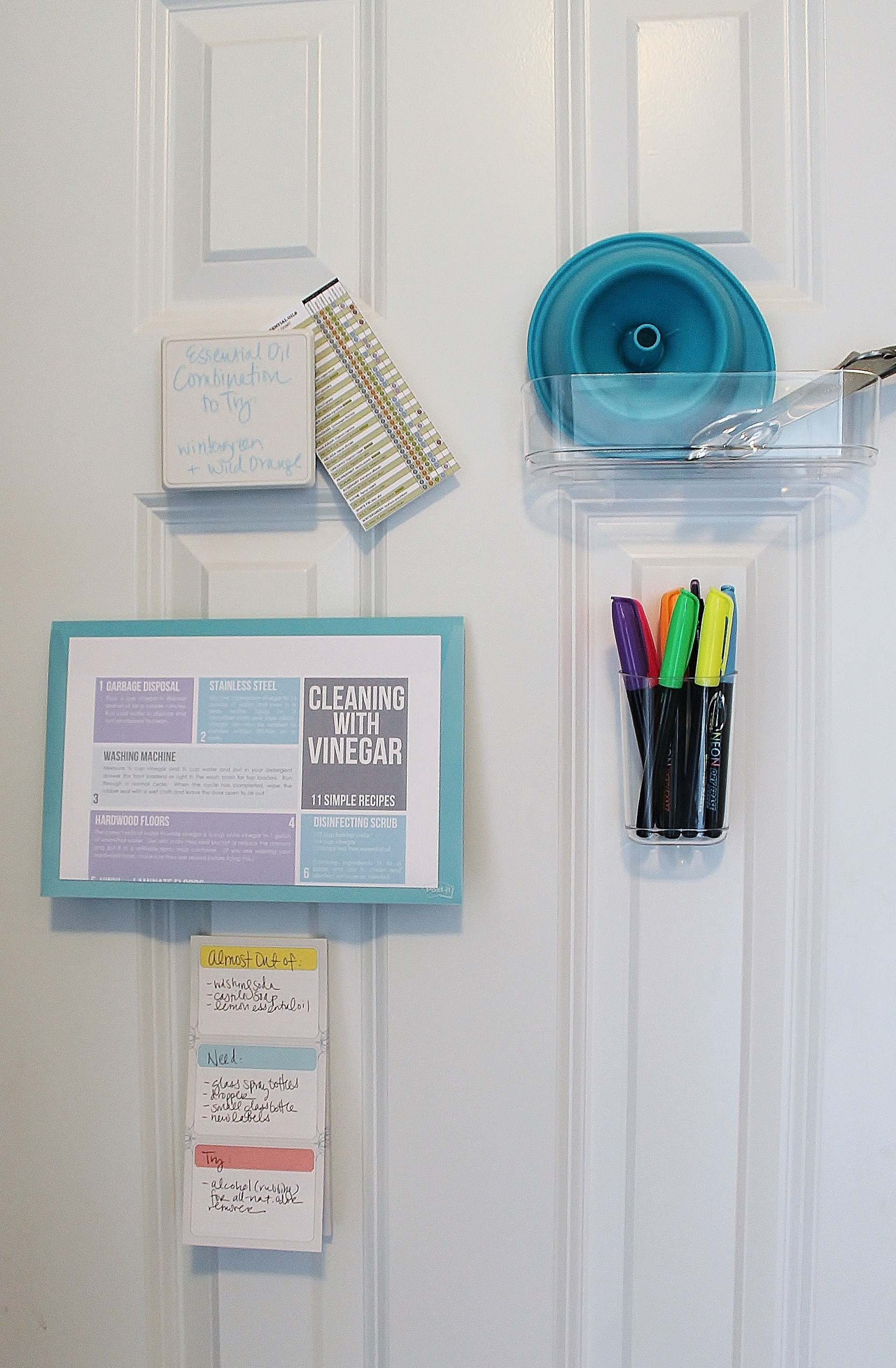 Creating a Cleaning Closet with the Post-It Home Collection via Clean Mama2