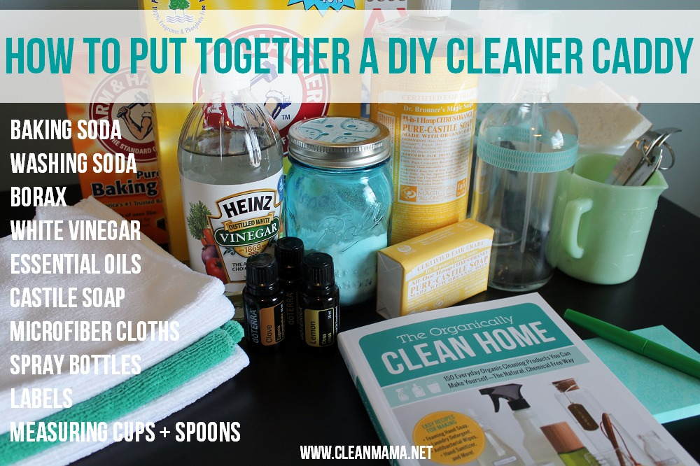 How to Put Together a DIY Cleaner Caddy via Clean Mama