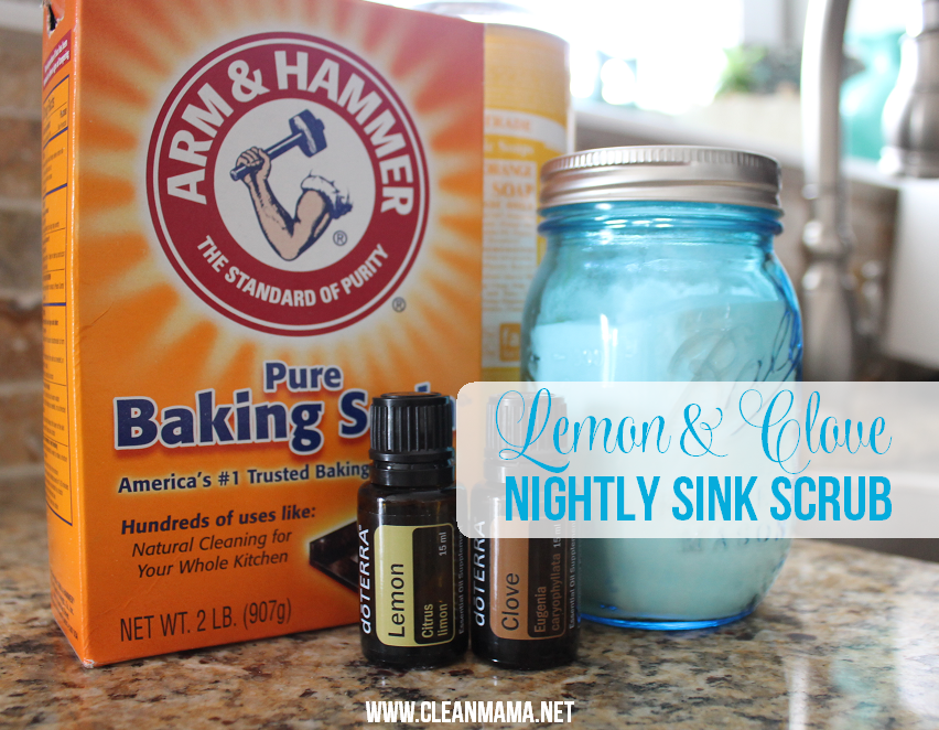 Lemon and Clove Nightly Sink Scrub via Clean Mama