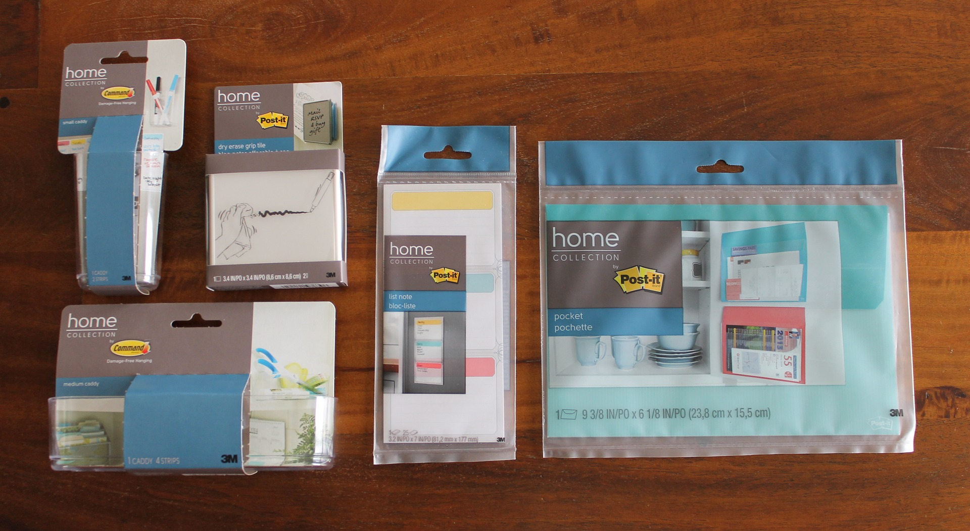 Products Used to Create a Cleaning Closet with the Post-It Home Collection via Clean Mama