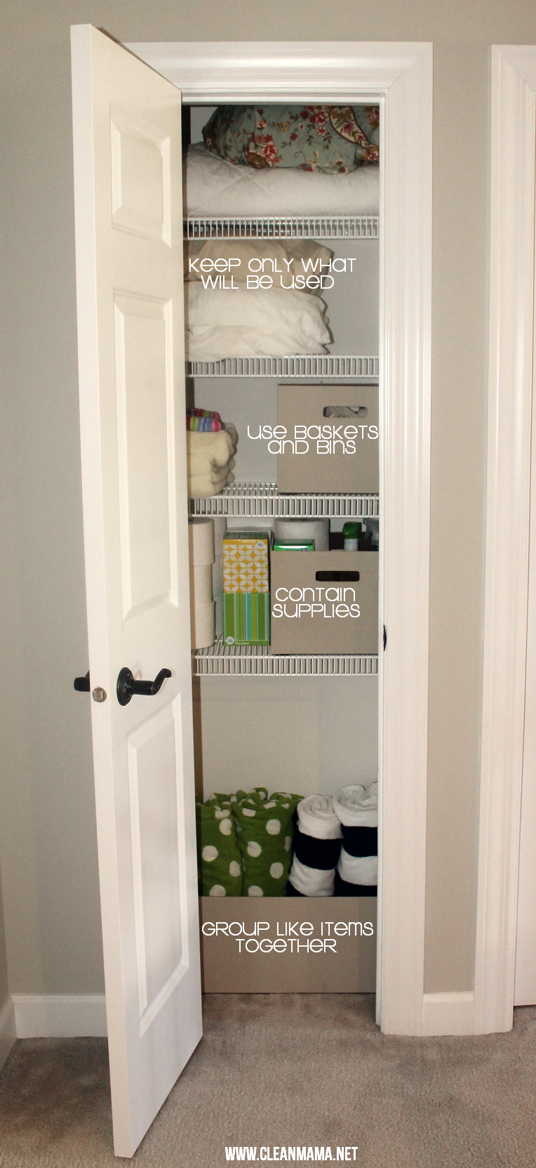 Simple Steps to Clean Any Closet via Clean Mama