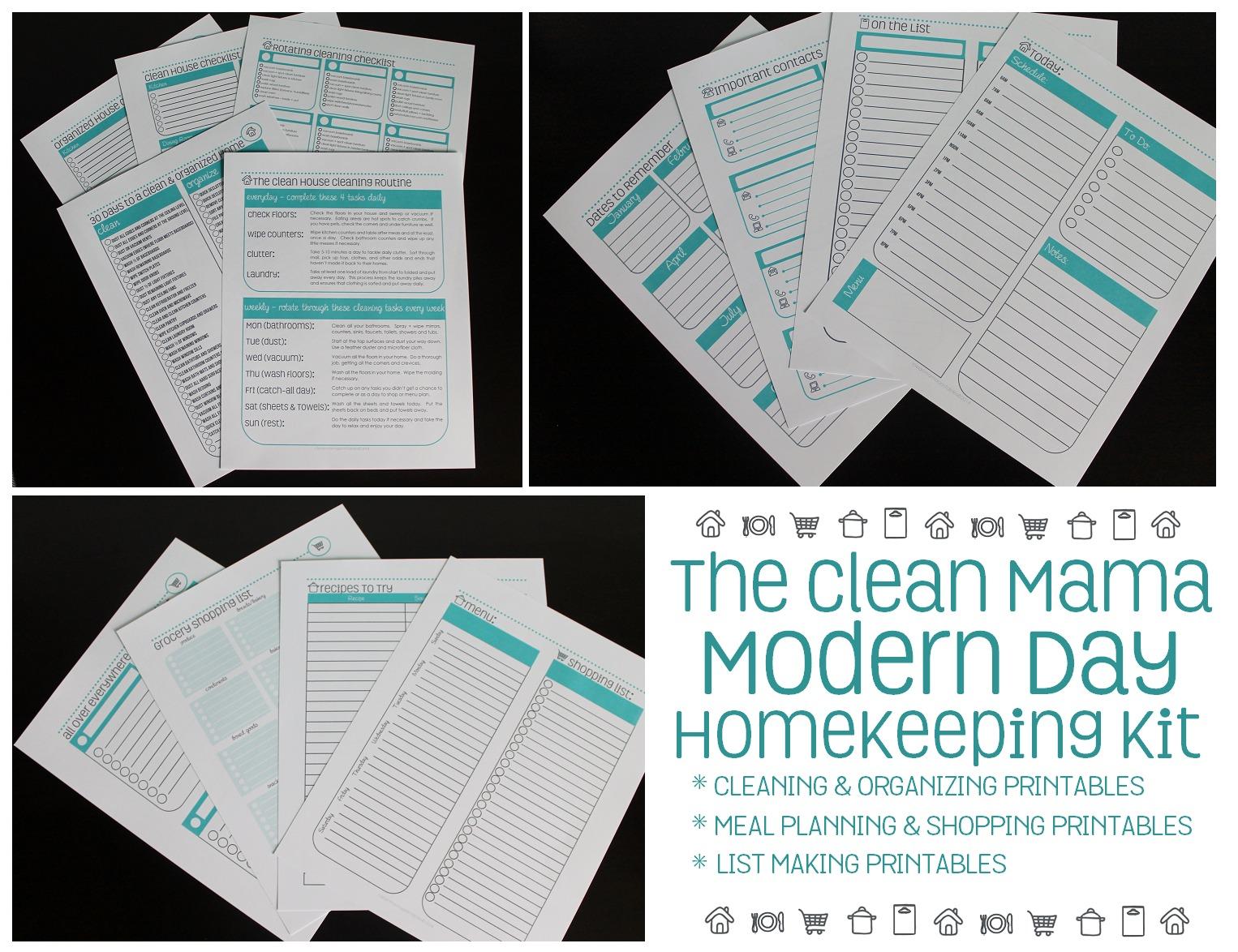 The Clean Mama Modern Day Homekeeping Kit 2 via Clean Mama