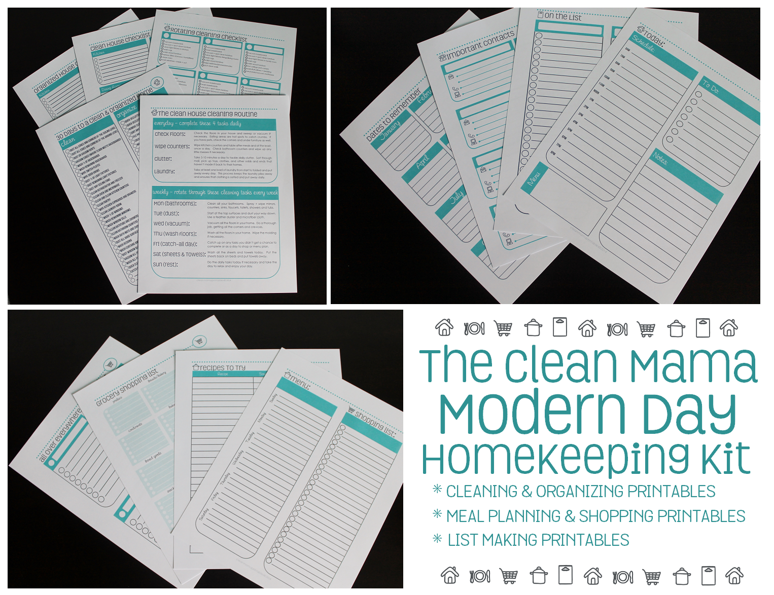 The Clean Mama Modern Day Homekeeping Kit 2 via Clean Mama