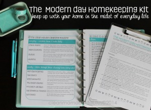 The Modern Day Homekeeping Kit via Clean Mama Printables