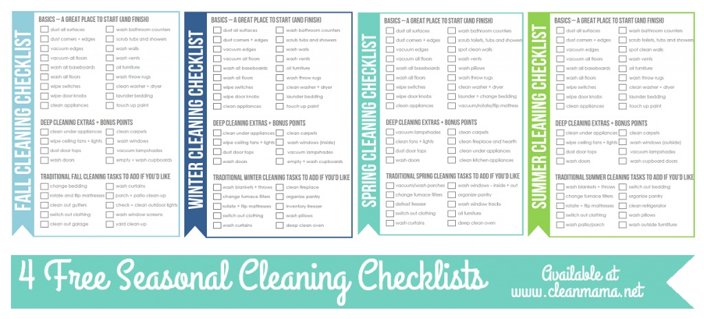 Free Summer Cleaning Checklist  Clean Mama
