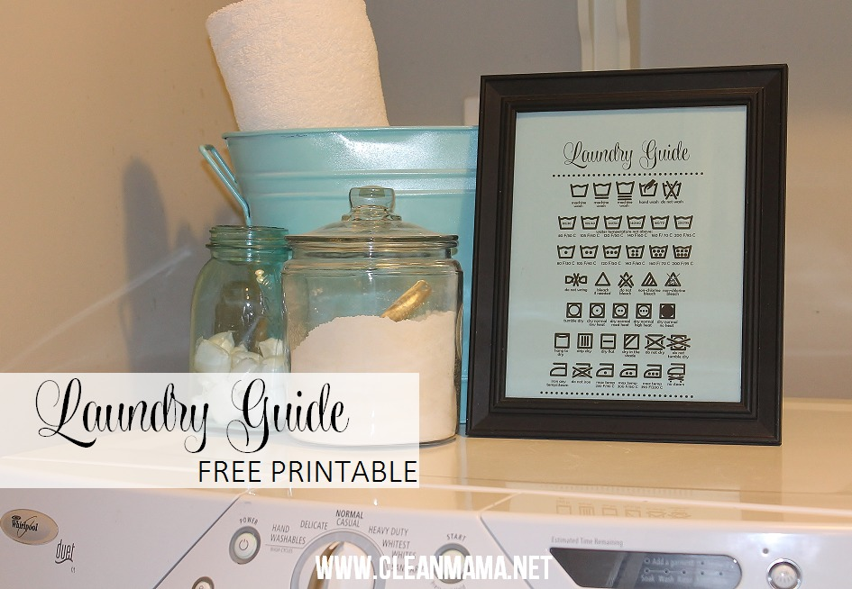 image relating to Printable Guide named Progressive Working day Homekeeping : Laundry Marketing consultant No cost Printable