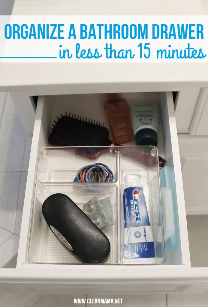 Organize a Bathroom Drawer in Less Than 15 Minutes via Clean Mama