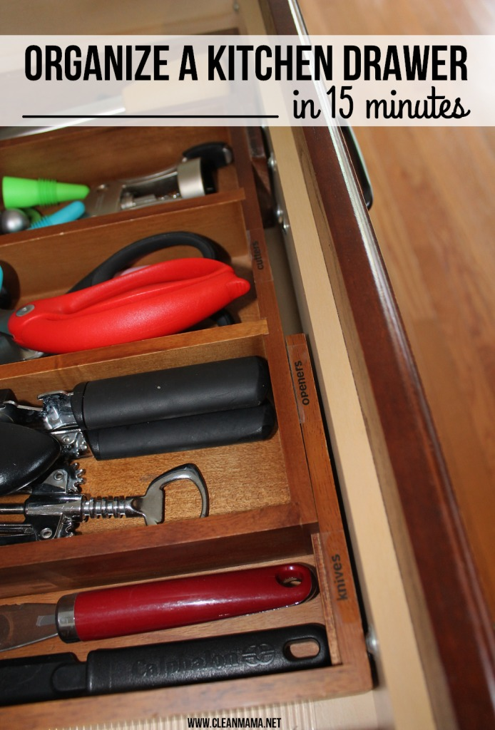 Organize a Kitchen Drawer in 15 Minutes via Clean Mama