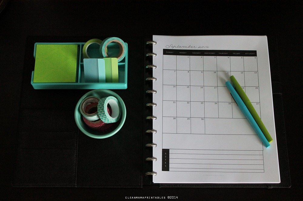 Clean Mama's Everyday Planner - Monthly Calendars via Clean Mama