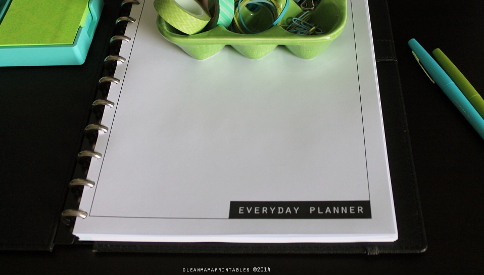 Clean Mama's Everyday Planner via Clean Mama