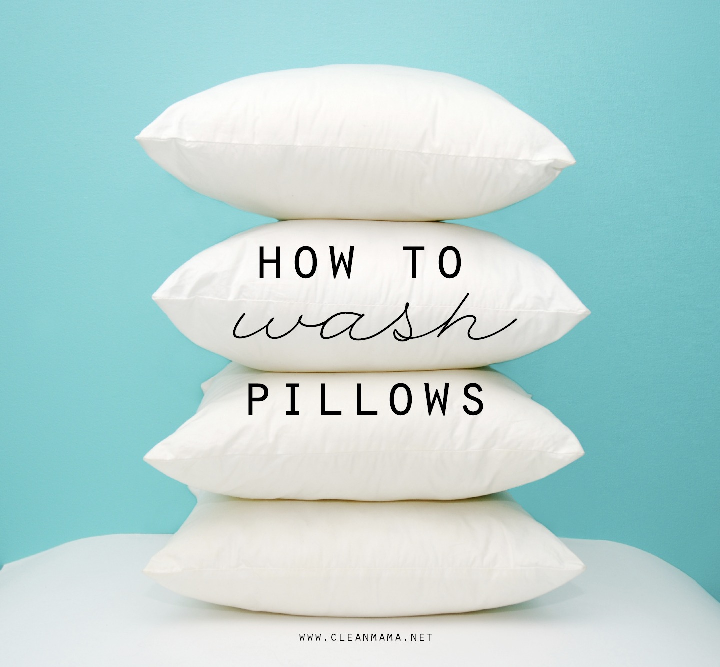 How To Wash Pillows Clean Mama