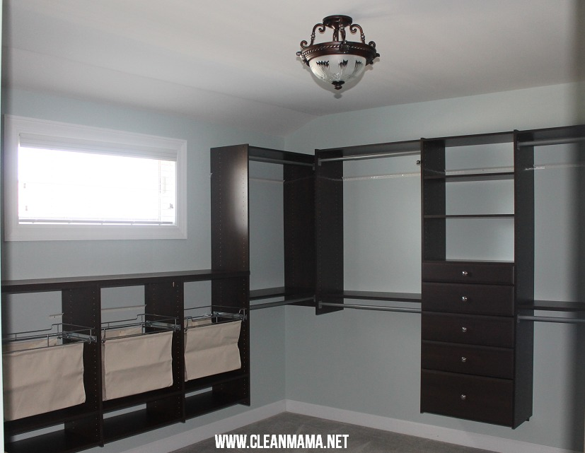 Master Bedroom Closet After 1  via Clean Mama
