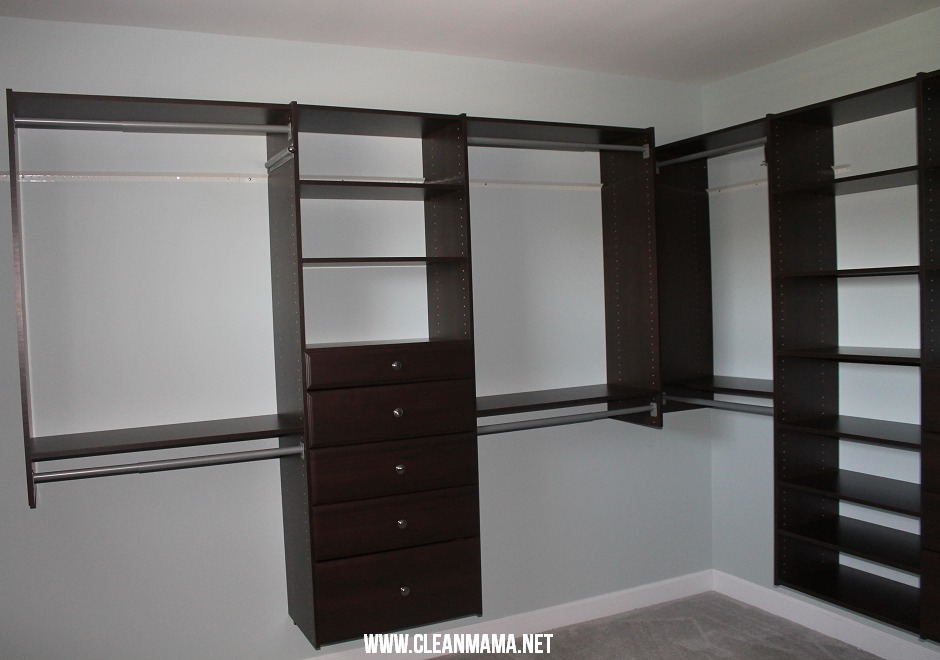 Master Bedroom Closet After 2 via Clean Mama