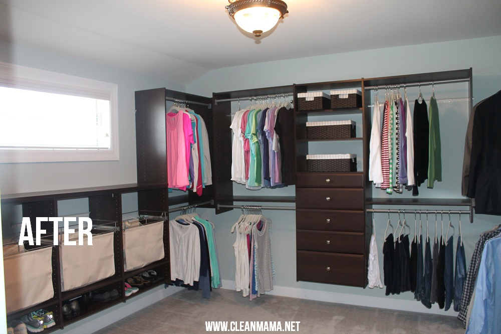 Master Bedroom Closet After Via Clean Mama