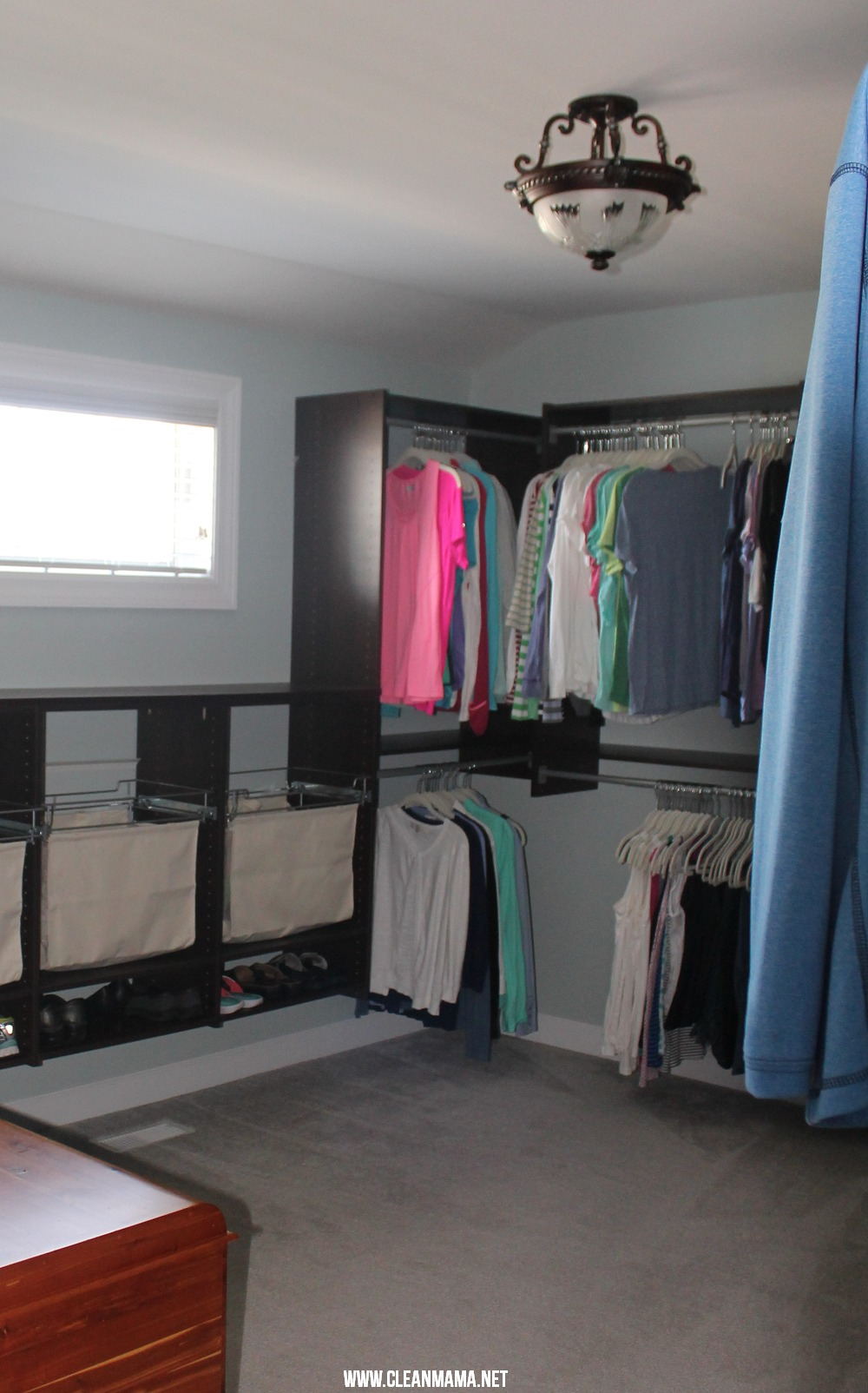Master Bedroom Closet Final 2 via Clean Mama