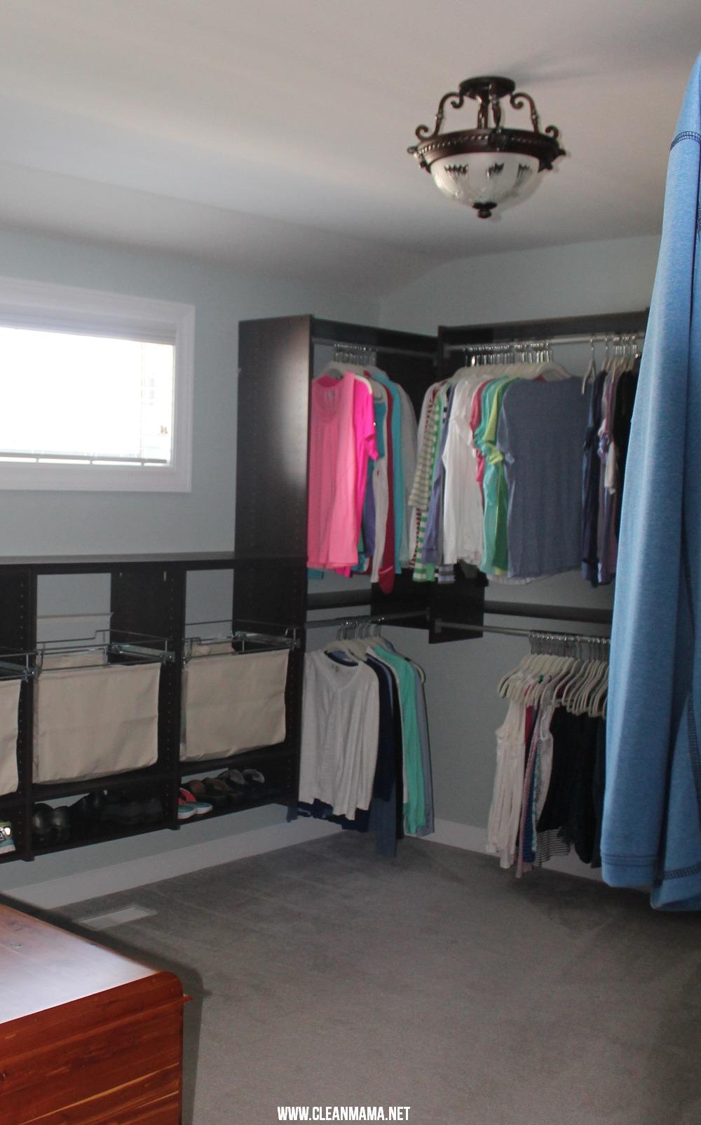 Master Bedroom Closet Final 2 via Clean Mama