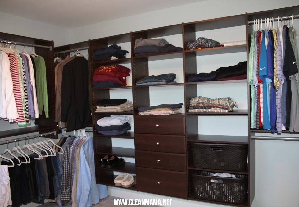 Master Bedroom Closet Final via Clean Mama