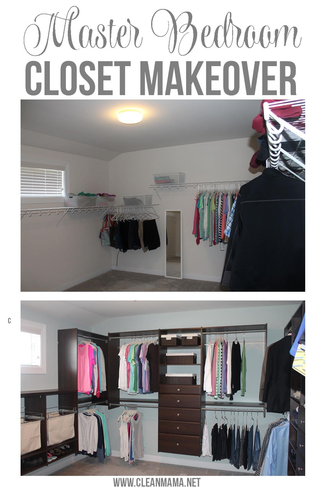 Master Bedroom Master Bedroom Closet Makeover via Clean Mama