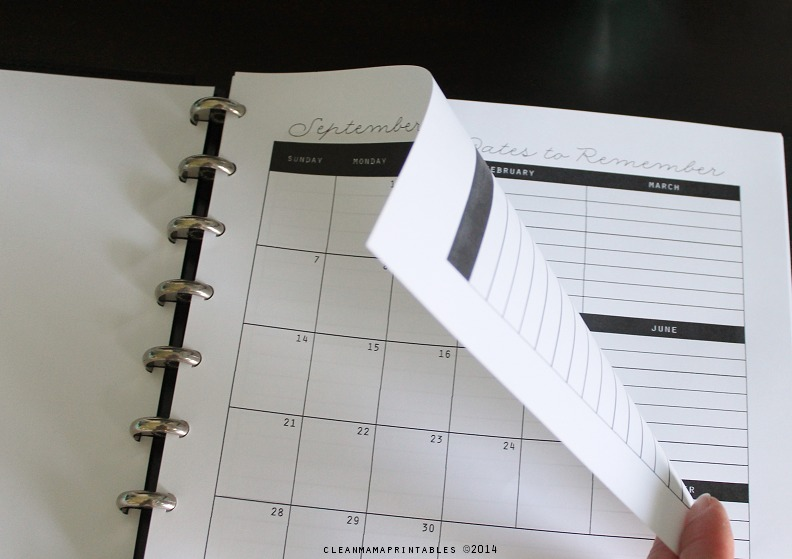 Prints perfectly front to back - Clean Mama's Everyday Planner