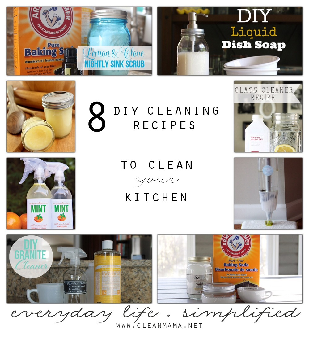 8 DIY Kitchen Cleaner Recipes (with Ingredients You Can Pronounce)